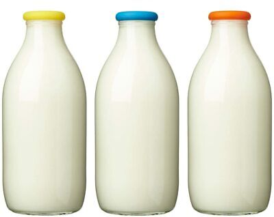 £6.76 • Buy Pack Of 3 Reusable Silicone Tops Specifically Designed Glass Milk Bottles