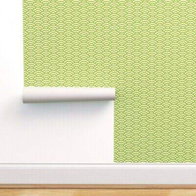 £148.16 • Buy Wallpaper Roll Scallop Oolongpalette Lime Scales Japanese Wave 24in X 27ft