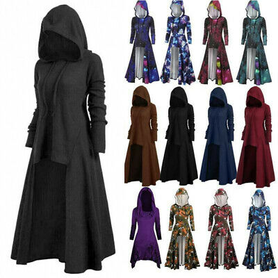 AU49.96 • Buy Halloween Women Gothic Witch Hooded Cosplay Outfit Cloak Cape Party Fancy Dress