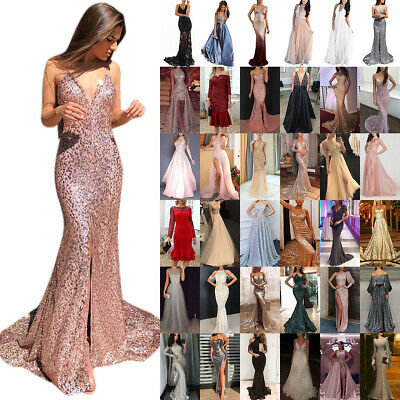 AU33.79 • Buy Women Sexy Maxi Dress Wedding Party Cocktail Bridesmaid Prom Ball Gown Dresses