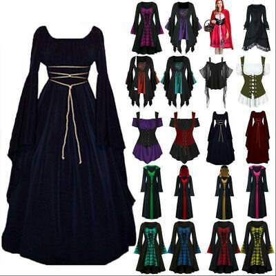 AU29.49 • Buy Women Halloween Cosplay Costume Medieval Gothic Witch Vampire Party Fancy Dress