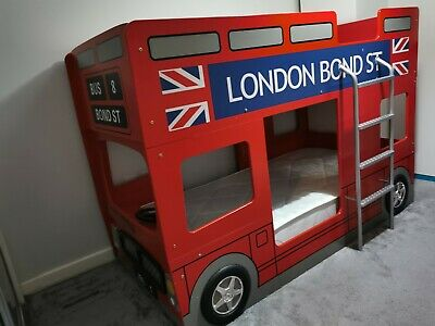 £380 • Buy London Bus Bunk Bed With 2 Mattresses