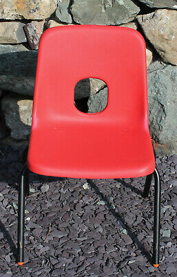 £13 • Buy Red Vintage Hille Plastic Stacking School Nursery Child Children Chairs : Size A