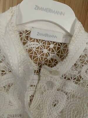 AU599 • Buy Zimmermann Shelly Embroidered Shirt Dress Summer 2021 RRP:$795 Size:1 Brand New