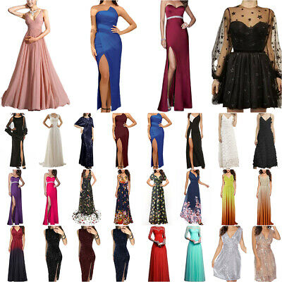 AU52.59 • Buy Women Formal Wedding Evening Party Prom Ball Gown Cocktail Bridesmaid Maxi Dress