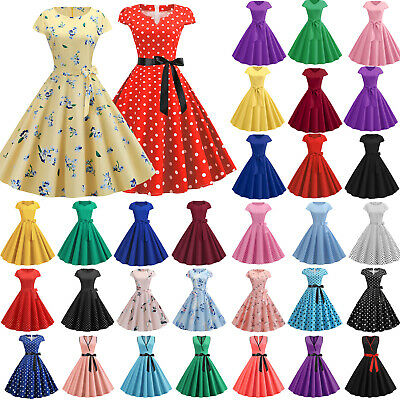 AU21.99 • Buy Womens Formal Vintage 50s 60s Rockabilly Swing Dress Evening Cocktail Party AU