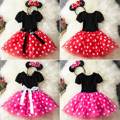 AU22.89 • Buy Kids Girls Minnie Mouse Pageant Birthday Party Costumes Outfits Set Tutu Dresses