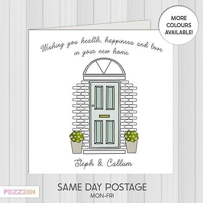 £1.95 • Buy Personalised New Home Card House Warming Moving Home Congratulations First Home