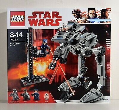 £60 • Buy LEGO STAR WARS - 75201 - FIRST ORDER AT-ST With CAPTAIN PHASMA, FINN & BB-8, New