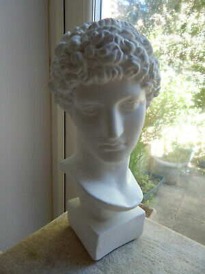 £29.95 • Buy Hermes Bust Greek God Plaster Statue 12  Tall Classical Male Bust