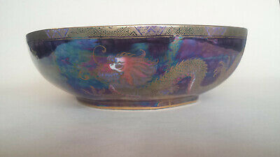 £249.99 • Buy Very Unusual Maling Gilded Lustre Octagonal Bowl With Dragons 3311