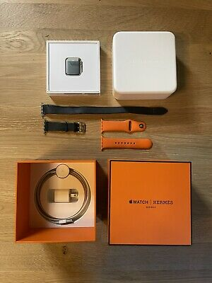 AU1033.60 • Buy NEW Other — Apple Watch Hermes Series 3 38mm Blue Double Tour Band WiFi + LTE