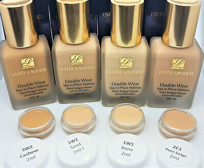 £2.99 • Buy Estee Lauder Double Wear Stay-in-Place Foundation - Sample 2ml POT- 30 Shades