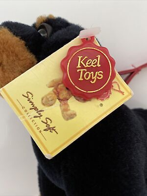 """£11.50 • Buy Keel Toys """"Simply Soft"""" COLLECTION - Black Puppy On Lead. NEW With Tags."""