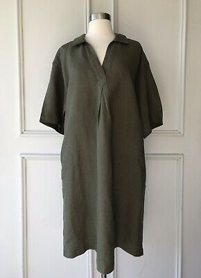 AU59.95 • Buy | COUNTRY ROAD | Linen Popover Dress Fern | $159 | NEW | SIZE: 8,10,12,14,16 |