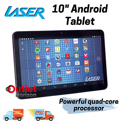AU119.95 • Buy Laser 10  Android 8 Tablet 8GB Quad Core WiFi Bluetooth LCD TFT Screen Black