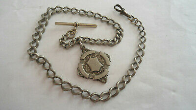£14.99 • Buy Antique Old Victorian Edwardian Metal Graduated Metal Pocket Watch Fob Chain
