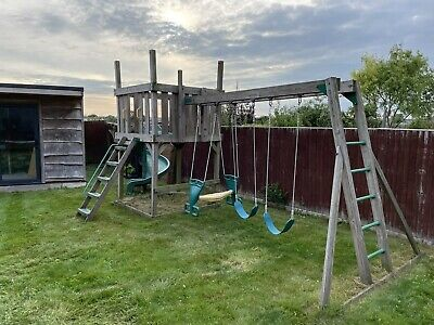 £42 • Buy Creative Playthings Climbing Frame With Monkey Bars, Slide And Swings.