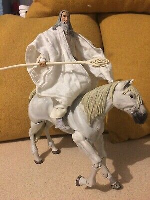 £18 • Buy Toybiz Lord Of The Rings LOTR Gandalf The White And Shadowfax Horse Figure Set