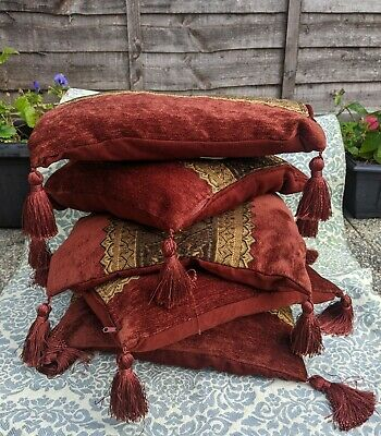 £100 • Buy 10 X Bohemian/Oriental/Vintage Style  Cushion Covers With Tassels 100% Polyester