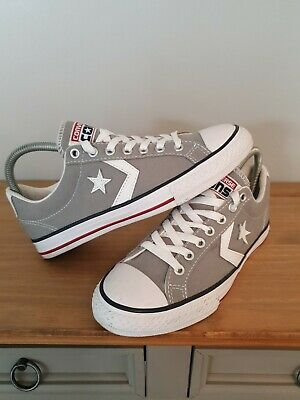 £19.99 • Buy Converse All Star Player Ox Trainers Shoes UK 4 EU 37 - Grey & White