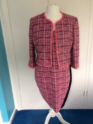 £20 • Buy Damsel In A Dress . Dress And Jacket Size 16 Pink/Black.