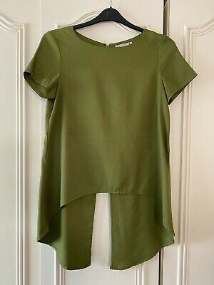 £1.99 • Buy Ladies Khaki Long Length Top By Hearts & Bows - Size 12