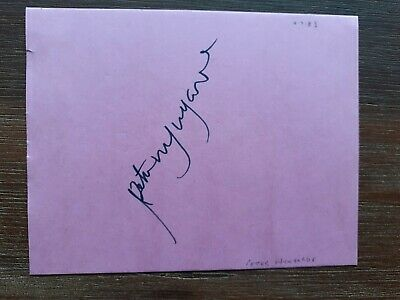£32.99 • Buy Rare Peter Wyngarde  Jason King   Department S  Personally Signed Album Page