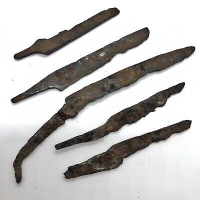 £36.34 • Buy 5x Authentic Ancient Roman Knife Blade Artifact - Iron - Ca. 200 BC - 800 AD Old