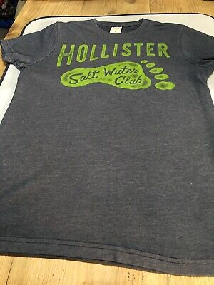 £4.99 • Buy Boys Hollister T Shirt Size Small Grey With Lime Green Logo Good Condition