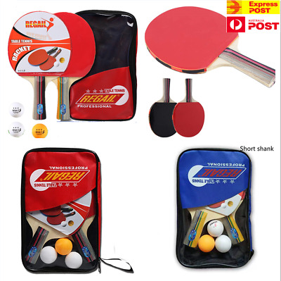 AU23.60 • Buy Table Tennis Bats,Long Short Handle Ping Pong Racket Set,with 3 Balls,Carry Case