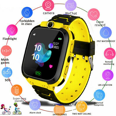 AU14.91 • Buy Touch Screen Smart Watch With LBS GSM Locator Tracker SOS Gift Kids Children#