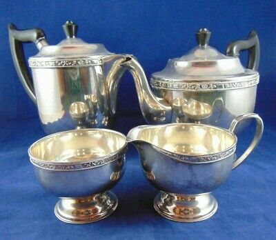 £17.50 • Buy Vintage  Silver Plated 4 Piece Tea Coffee Service Viners Of Sheffield England