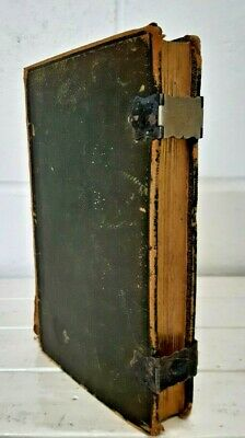 £10.50 • Buy 1829 The Holy Bible Leather Bound With Working Clasps Samuel Collingwood KY323