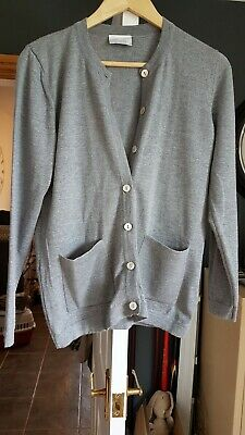 £18.99 • Buy Cotswold Collection Ladies Grey Cardigan 100% Extrafine Merino Wool Size S