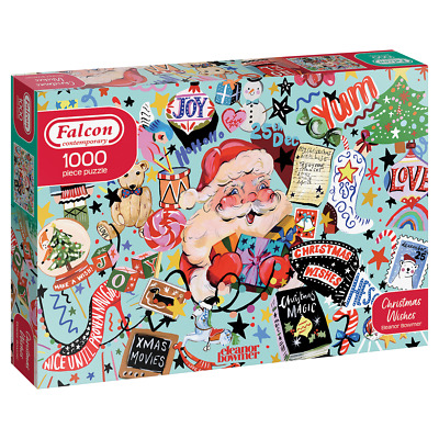 £13.95 • Buy Falcon Contemporary Christmas Wishes Jigsaw Puzzle (1000 Pieces) Eleanor Bowmer