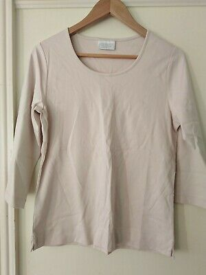 £3.99 • Buy Ladies Beige / Oatmeal Cropped Sleeve Top COTSWOLD COLLECTIONS Size 12/14