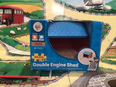 £9.95 • Buy Bigjigs Wooden Railway Double Engine Shed Boxed Suitable For Brio, Thomas Etc