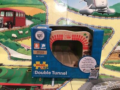 £8.95 • Buy Bigjigs Wooden Railway Boxed Double Tunnel Suitable For Brio, Thomas Etc