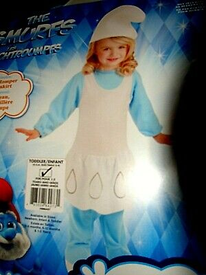 £4 • Buy New Smurfs Smurfette Halloween Costume Girls Size Toddler 2-4 For 1-2 Year Nwt