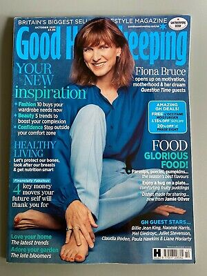 £2.49 • Buy Good Housekeeping Magazine - Fiona Bruce Cover - October 2021 - New