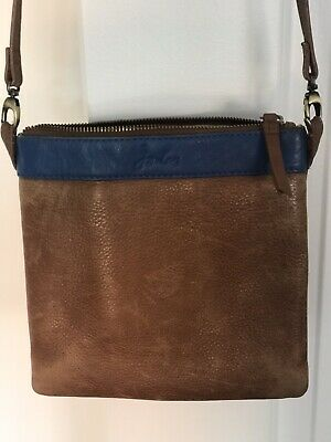 £10 • Buy Joules  Tan Leather  Cross Body Bag.  Good Clean Used 💕