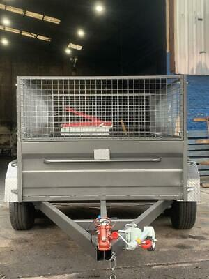 AU3000 • Buy 8x5 Tandem High Side Box Trailer 600MM CAGE 1 Year Private Rego And Spare Wheel