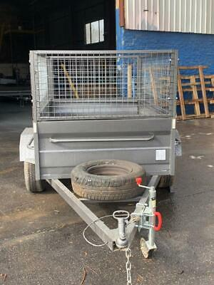 AU1750 • Buy 7x4 High Side Box Trailer 600MM CAGE Free 1 Year Priv Rego And Spare Wheel