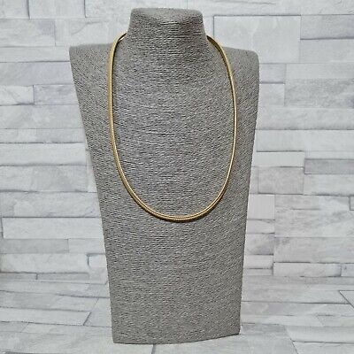 £7.50 • Buy STATEMENT Necklace Long Goldtone Flexible Flat Snake Chain Costume Jewellery