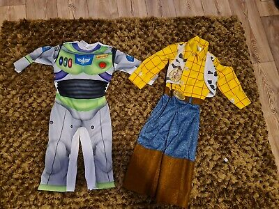 £3.50 • Buy Set Of 2 Children's Costumes Woody 3-4 And Buzz Lightyear 2-3 Disney
