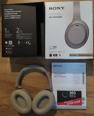 £155 • Buy Sony WH-1000XM4 Noise Cancelling Wireless Headphones - Silver - USED RARELY
