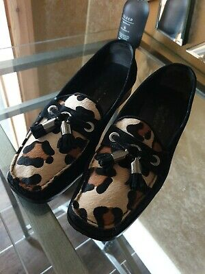 £35 • Buy Russell & Bromley Stuart Weitzman Leopard Animal Print Suede Shoes .