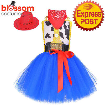 £17.41 • Buy N410 Girls Jessie Cowgirl Costume Tutu Dress Party Book Week Toddler Outfit Hat