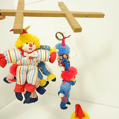 £5.95 • Buy 18cm Handmade Clown Hanging Mobile Soft Toy Collectable Childrens Kids B4